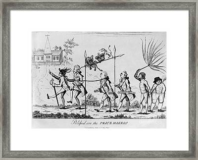 Treaty Of Paris, 1783 Framed Print