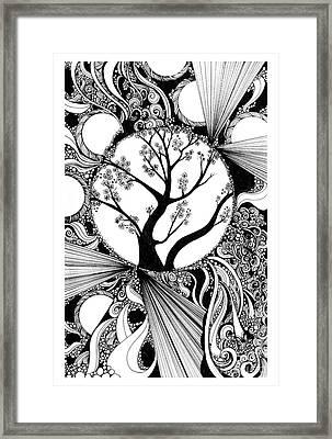 Tree Doodle 58 Framed Print