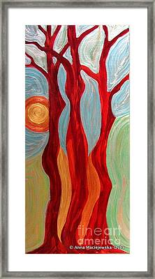 Tree Graces Framed Print by Anna Folkartanna Maciejewska-Dyba