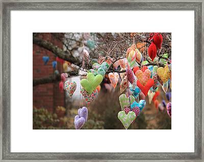 Tree Hearts Framed Print