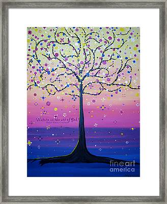 Tree Of Inspirations Framed Print