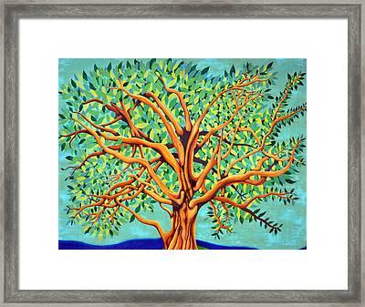 Tree Of Life Framed Print by Fraida Gutovich