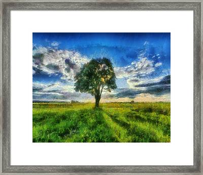 Framed Print featuring the painting Tree Of Life by Joe Misrasi