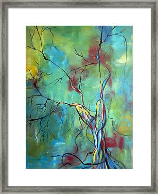 Tree Of Winding Color Framed Print