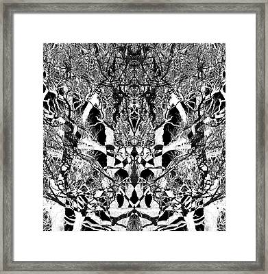 Framed Print featuring the digital art Tree Patterns by Michele Cornelius