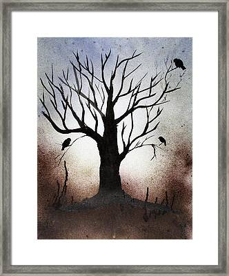 Tree Shadows Framed Print