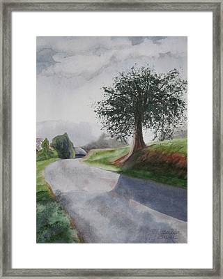 Framed Print featuring the painting Tree by Teresa Beyer