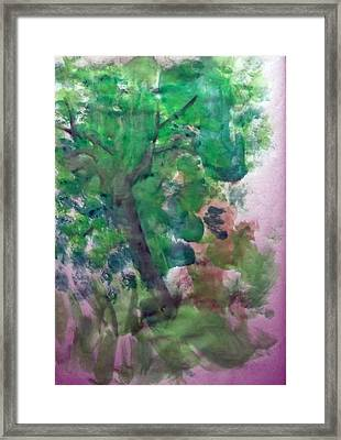 Tree.cohen And Me Framed Print by Peter Edward Green