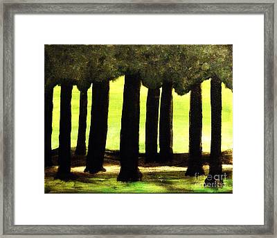 Trees Along The Golf Course Framed Print by Marsha Heiken