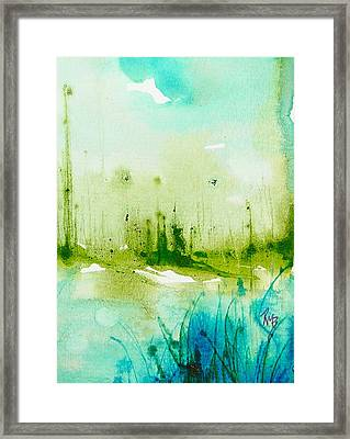 Trees By Water Framed Print