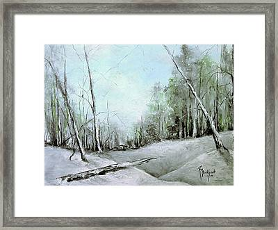 Trees In Winter #2 Framed Print by Robin Miller-Bookhout