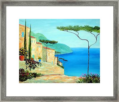 Framed Print featuring the painting Trees Of The Mediterranean by Larry Cirigliano