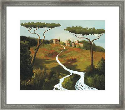 Trees Of Tuscany Framed Print by Larry Cirigliano