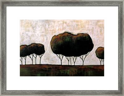 Trees On The Prairie Framed Print