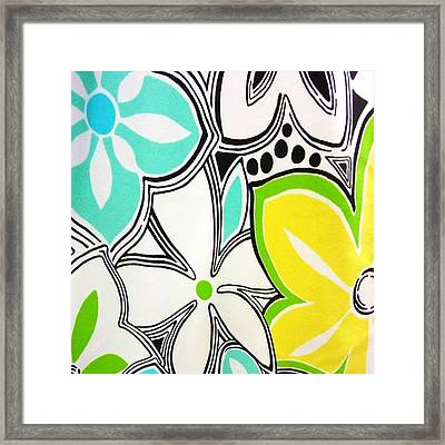 Trendy Floral Framed Print by Florene Welebny