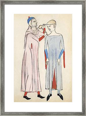 Trepanation, 14th Century Artwork Framed Print by Sheila Terry