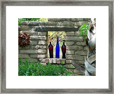 Framed Print featuring the photograph Tres Amigoes by Jo Sheehan