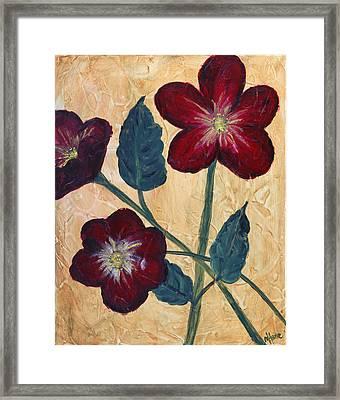 Tres Fleurs Framed Print by Maureen House