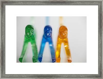 Tres Monkeys Framed Print by Greg Kopriva
