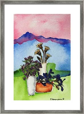 Tres Vasos Framed Print by Regina Ammerman