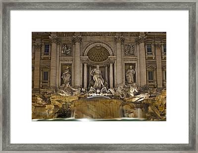 Trevi Fountain At Night Framed Print by Joana Kruse