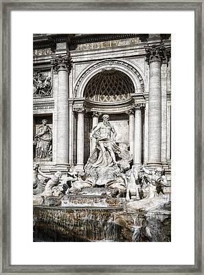 Trevi Fountain Detail Framed Print