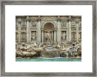 Trevi Fountain Framed Print by Donna Lee Blais