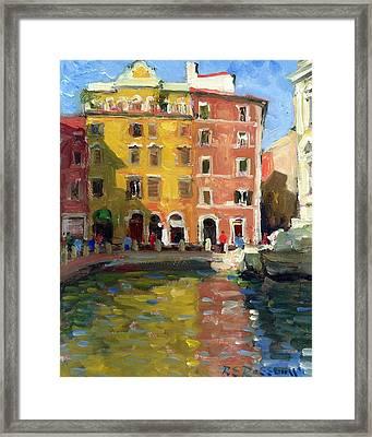 Trevi Fountains Rome Framed Print by Roelof Rossouw