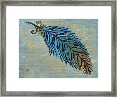 Tri-color Feather Framed Print by Kristen Fagan