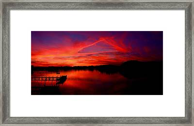 Triangle Of Fire Framed Print by Tim Scullion