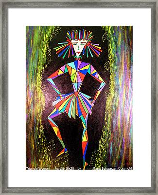 Framed Print featuring the painting Triangle Woman by Marie Schwarzer