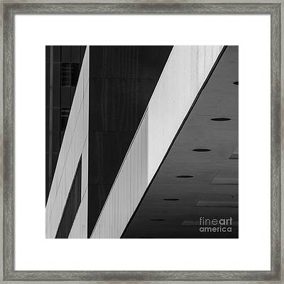 Triangles And Zig-zag Framed Print by Matt  Trimble