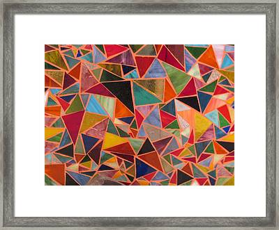 Triangles Framed Print by Donna Moore