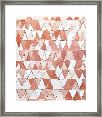Triangular Sepia And White Waves Framed Print by Kazuya Akimoto