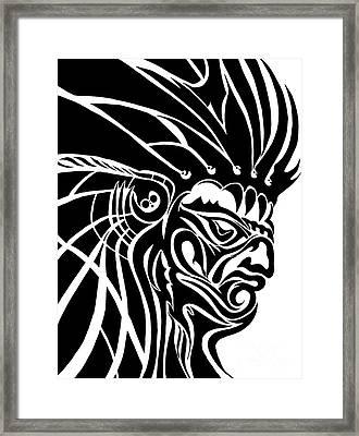 Tribal Leader Framed Print by Jack Norton