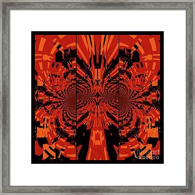 Tribal Lion Framed Print