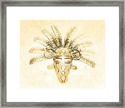 Tribal Mask Iv Framed Print
