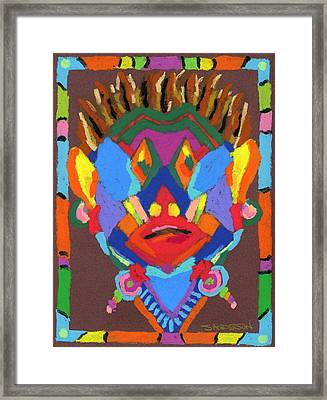 Tribal Mask Framed Print by Stephen Anderson