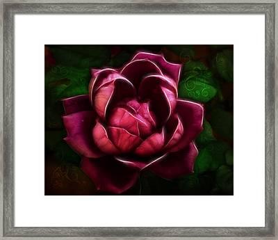 Tribal Rose Framed Print by Bill Tiepelman