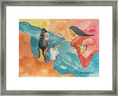 Framed Print featuring the painting Tribute by Geeta Biswas