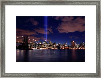 Tribute In Light II Framed Print by Rick Berk