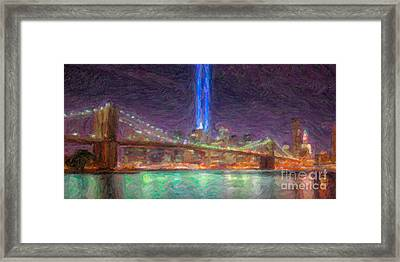 Tribute In Light Impasto Framed Print by Clarence Holmes