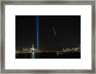 Tribute In Light Framed Print by John Dryzga