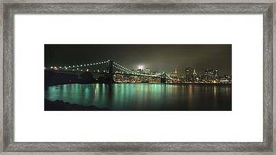 Tribute In Light, Lower Manhattan On Framed Print by Axiom Photographic