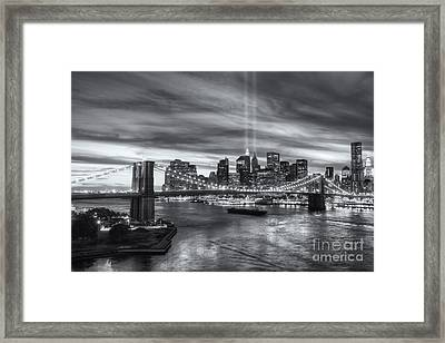 Tribute In Light V Framed Print by Clarence Holmes