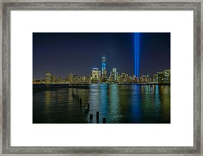 Tribute In Lights Framed Print by Susan Candelario