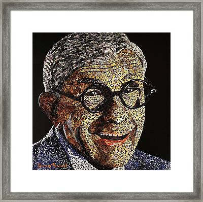 Tribute To George Burns Framed Print