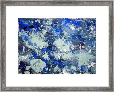 Tribute To Jackson Pollock Framed Print by Carlos Roberto