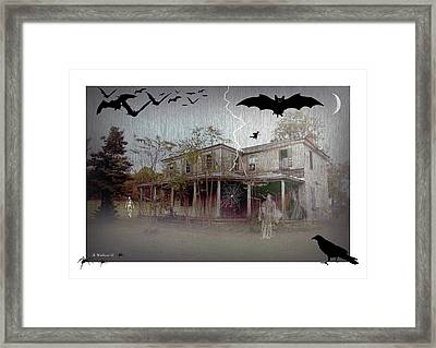 Trick Or Run Like Hell Framed Print by Brian Wallace