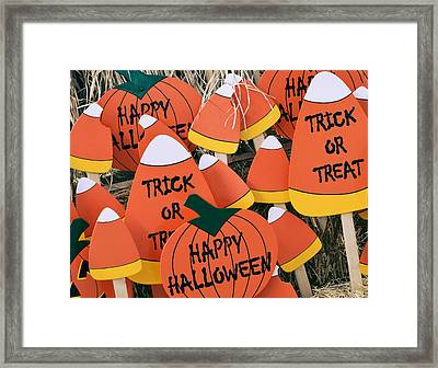 Trick Or Treat Happy Halloween Framed Print by Julie Palencia